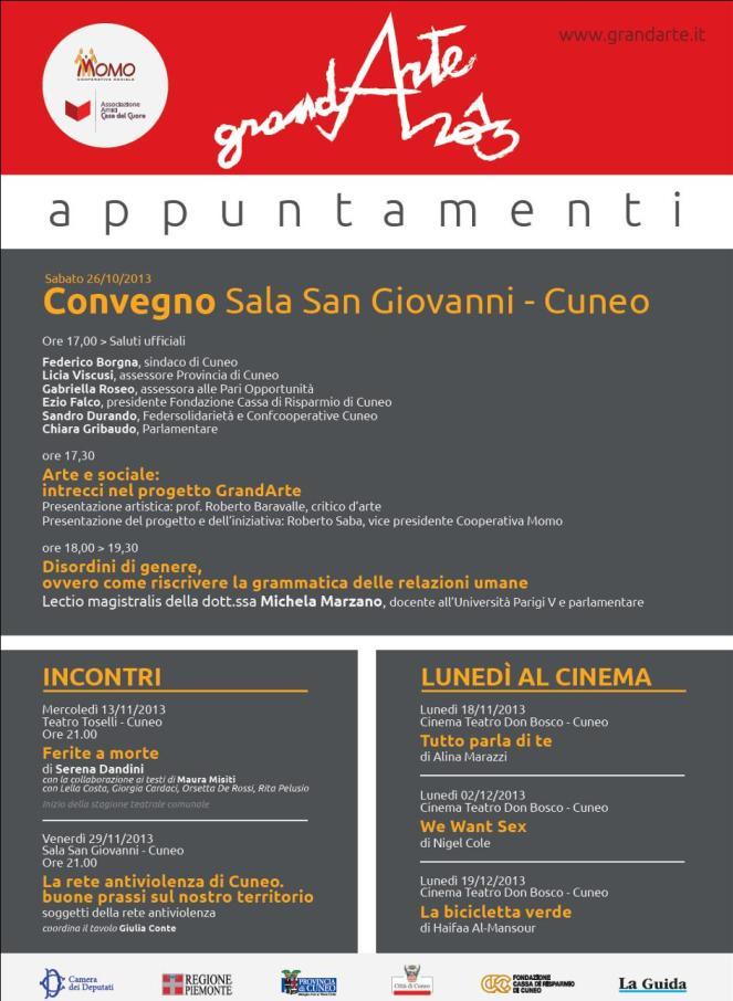 Rete antiviolenza e buone prassi. Cuneo, Sala San Giovanni